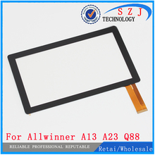 New 7'' inch Replacement Case apacitive Touch Screen Digitizer Panel For Allwinner A13 A23 Q8 Q88 Tablet PC Free ship 10pcs/lot(China)