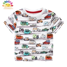 Yingwaaiyi children top boys T shirt short pattern kids designer kids cartoon summer clothes for children brand t shirt for boys