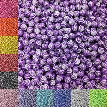 LNRRABC 100pcs/lot 8mm 13 Color Acrylic Beads For Bracelet Necklace DIY Round Spiral Pattern Free Shipping(China)
