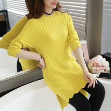 Chic O neck Side Split Knitted Long Sweater Bodycon Dress Autumn Winter 2017 Women Long sleeve Basic Knitwear OL Dresses W00891