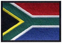 "South Africa Iron on Embroidery Flag Logo 3"" Wide Free Shipping/Decoration for clothes/Custom Embroidery Patch/Embroidered Patch"