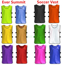 Ever Summit Soccer Unit Training Vest Soccer Jerseys Football Vest Group Against Man Adult Kids Custom Design S070115 12 Colors(China)