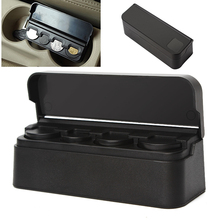Car Styling Car Coin Holder Black Plastic Coin Case Storage Box Holder Container High Quality #iCarmo