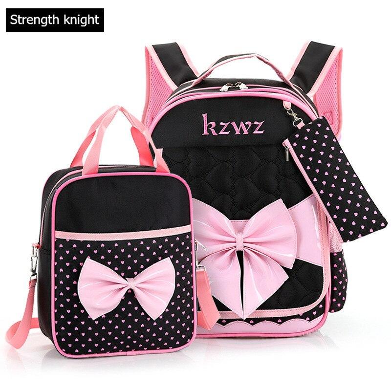 Lovely Girls Bow Schoolbags Orthopedic Children School Bag For Girls Rucksack sac a dos enfant Mochila Escolar<br>