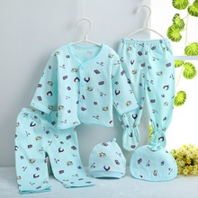(5pcs/set)Newborn Baby 0-3M Clothing Set Cheap Baby Boy/Girl Clothes 100% Cotton high quality Cartoon Underwear