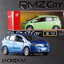 RMZ City Honda Jazz 1:32 Vehicles Alloy Pull Back Car Replica Authorized Original Factory Model Toys Kids Gift Free Shipping