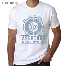 yiwuliming Portal 2 Aperture Laboratories Men's T-shirt Video Game Fan Clothing Shirt Short Sleeve aperture T shirt(China)