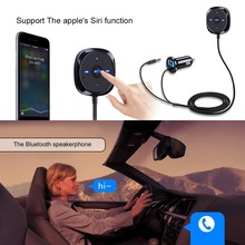 2017 Bluetooth Car Kit Hands-Free Calls MP3 Music Player Cigarette Lighter Charger 3.5mm AUX Portable 5V 2.1A Bluetooth Receiver