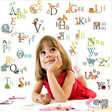 Animals Alphabet ABC Kids Children Wall Sticker Decals classroom learn Removable