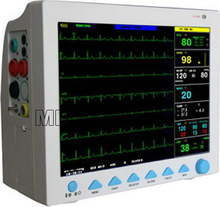 NEW CMS8000 6-Parameter TEMP, Pulse Rate, Respiration, ECG, SPO2, NIBP Digital Medical ICU Patient Vital Signs Monitor