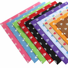 10pcs/set Dot Non-woven Printed Felt Fabric Square Sewing Patchwork Cloth Felts for DIY Decor Craft 15X15CM