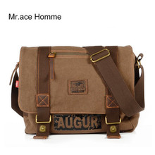 2017 New Fashion Brand High Quality Canvas Leisure Korean Student Bag shoulder School bags Men Messenger Bag Manufacturers(China)