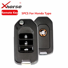 XHORSE VVDI2 For Honda Type Universal Remote Key 3 Buttons Transponder Remote Key Maker For Honda 5pcs/lot(China)