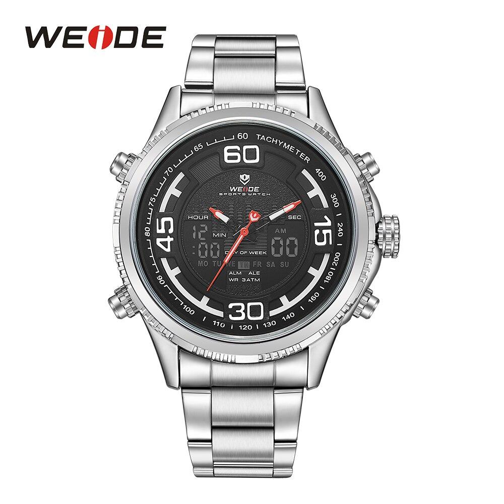 WEIDE Military Men Analog LCD Dual Display Sport Digital Calendar Date Day Week Quartz Movement Back Light Stopwatch Wristwatch<br>