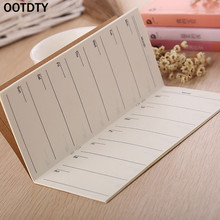 OOTDTY OOTDTY Notes Kraft Cover Weekly Planner Diary Journal Memo Notebook Note Pad School Office Sticky Notes  1pc
