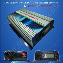 DC 48v 72v to AC 220v 240v solar panel 1500w grid tie inverter, grid tied inverter lcd display(China)