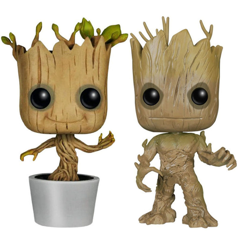 Funko POP !! 10cm GROOT GUARDIANS OF THE GALAXY TOY ACTION FIGURE GROOT KIDS Toys<br><br>Aliexpress