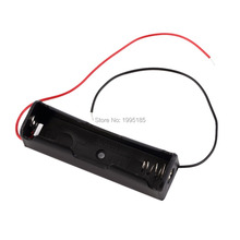 5PCS New Plastic 18650 Battery Case Holder Storage Box with Wire Leads for 18650 Batteries 3.7V Black Wholesale