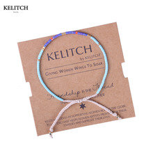 KELITCH Jewelry 1Pcs Imported Seed Beads Handmade Bracelet Cotton Rope String Beach Friendship Bracelets For Best Friend Gift(China)