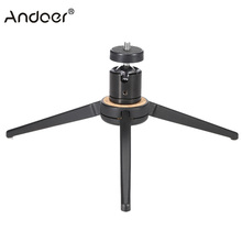 Mini Portable Aluminum Alloy Table Top Tripod Load 10KG for iphone Samsung LG Smartphones Cellphone Digital Camera Mount Monopod