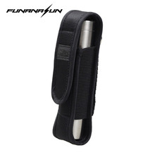 Nylon Molle Flashlight Pouch Torch Holster Airsoft Travel Camping Hiking Waist Attach Led Light Holder for ALIGHT M6,R5,8022
