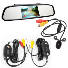 "Wireless Parking Assistance System 2 in 1 4.3 "" inch Digital TFT LCD Mirror Wireless Rear view Camera Car Parking Monitor + 170"