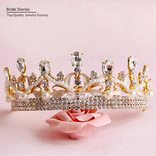 Bridal Crowns and Tiaras hair jewelry princess wedding hair accessories(China)