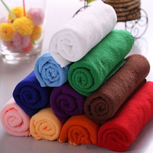 2017 New Popular 30* 70 cm Microfiber Towel/Car Cleaning Wash Dry Clean Cloth/Brand Candy Color Hand/Face Towel(China)