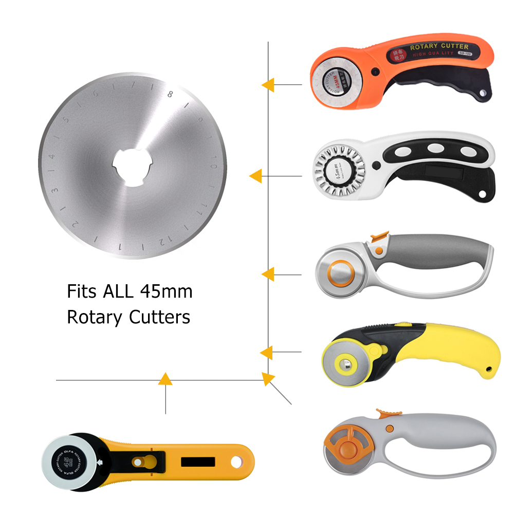 45mm Fabric Cutter Leather Craft Tool Rotary Cutter Blade Circular Cut DIY Patchwork Crafts Leather Sewing Quilting Cutting Tool (15)