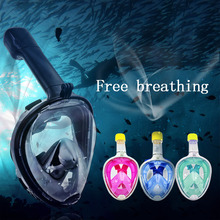2017 Hot Selling Full Face Scuba Diving Mask 180 Degree Vision Anti-Fog Full Dry Swimming Snorkeling Mask Underwater Equipment