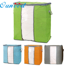 2017 New Foldable Home Closet Storage Bag Organizer Box Anti-bacterial Clothes Finishing Bins Storage Bags 45x30x50cm Jun02(China)