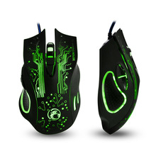 Estone X9 Special Design USB Connector Gaming Mouse 6D Gamer mouse 2400 DPI 7 Gaming Multi LED Optical USB Wired Gaming Mouse