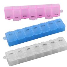 1pc New 7 Days Pill Medicine Box Holder Capsules Case Storage Container Organizers 3 Colors to Choose E9