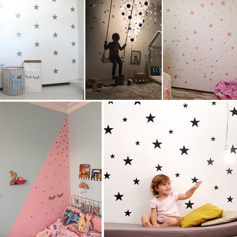 HTB1wvp8wL5TBuNjSspmq6yDRVXak - Custom Color Stars Wall Sticker DIY For Kids Rooms
