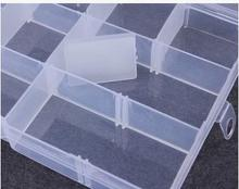 15 Grid household supplies adjustable storage bin high grade electronic components plastic translucent storage box 5pcs/lot(China)