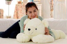 stuffed animal white polar bear plush toy about 55 cm prone polar bear soft doll t7000(China)