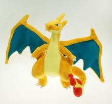 "9""-10"" Charizard  Plush Doll Stuffed Toy Mega Evolution X&Y Charizard Soft Stuffed Plush Doll Cartoon Gift for Kid Free Shipping"