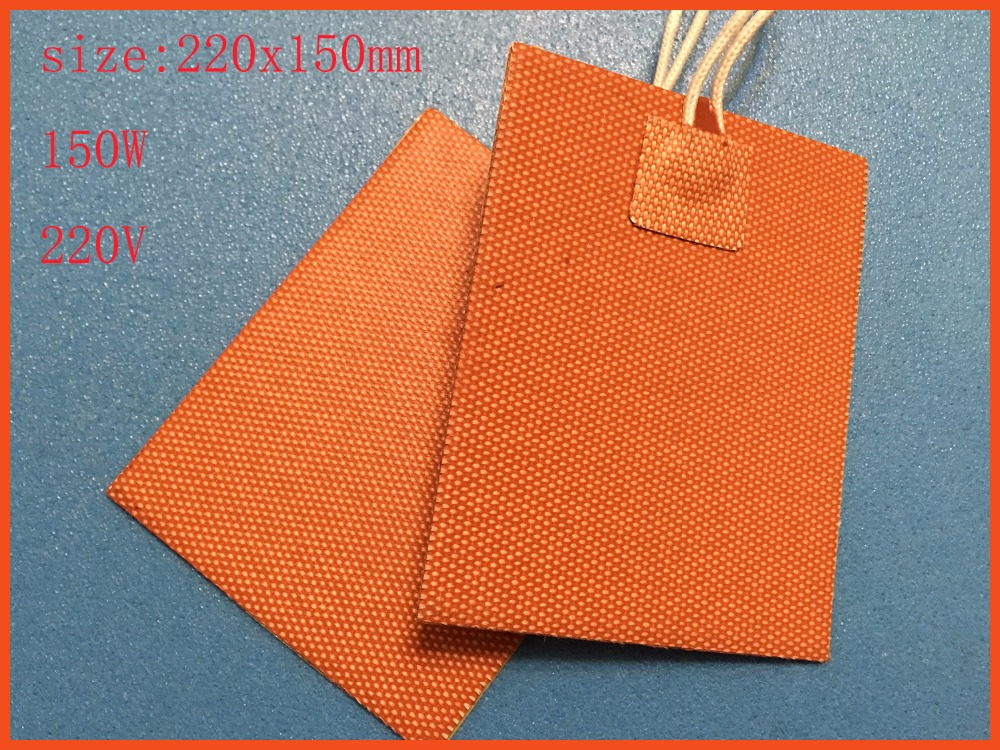 220x150mm 150W 220V Silicone Heater mat Heating Element heating plate Electric pad For Cement building protection  flexible oi;<br>