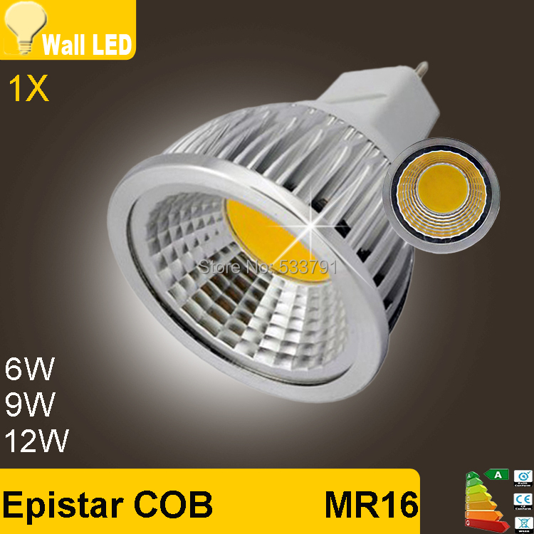 1pcs Brand New Ultra Bright 6W 9W 12W E27 GU10 MR16 Dimmable LED COB Spot Down Light 110V 220V Cool Warm White Bulb(China)