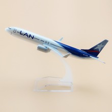 16cm Metal Alloy Plane Model Chile Air LAN Airways Boeing 737 B737 800 CC-COP Airlines Airplane Model w Stand Aircraft  Gift