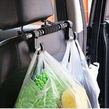 Black Car Seat Steel Rest Plastic Shopping Hand Bag Holder Hanging Hook Carryer(China)