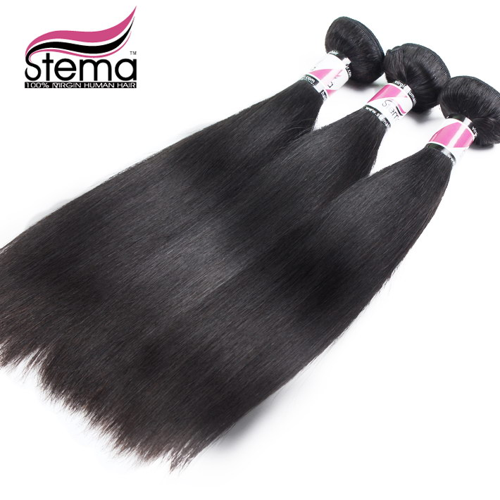 Free Shipping Straight 3 pcs/lot Malaysian Virgin Straight Human Hair Ponytail Extensions Cheap Remy Human Hair 100g Bundles<br><br>Aliexpress