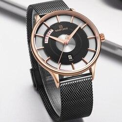 Новые мужские часы naviforce Роскошные креативные часы лучший бренд кварцевые мужские часы спортивные Стальные наручные часы relogio masculino 2019