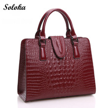 2017 Fashion Genuine Crocodile Leather Bags New Women Messenger Bags Handbags Women Famous Brand High Quality Tote Bags Hot