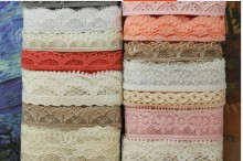 HOT SALE ~ 80 meters Mix design lace fabric ribbon border lace trim sewing material accessories