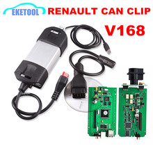 Renault Vehicle Diagnosis Tool CAN Clip Tester New V168 Renault Can Clip Green PCB Board Powerful Auto Interface Renault Clip