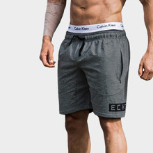2017 the latest version Men's Gyms Shorts With Pockets Bodybuilding Clothing Men Fitness Zipper Pathwork workout Cotton Shorts(China)