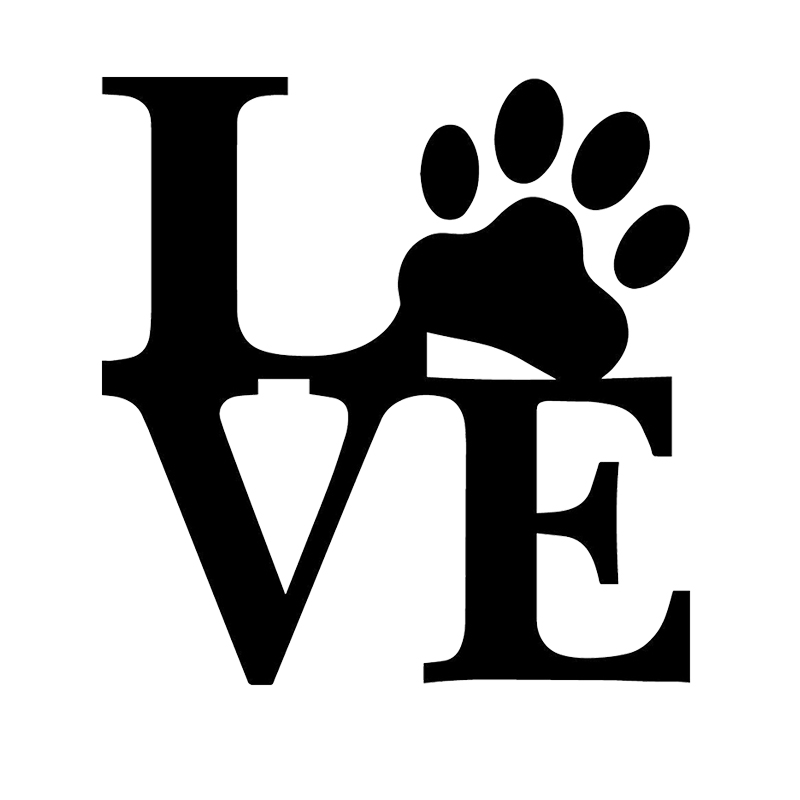 Love Paw Animal Pet Dog Cat Cute Sticker For Car Windshield Truck SUV Bumper Door Laptop Kayak Wall Die Cut Vinyl Decal(China (Mainland))