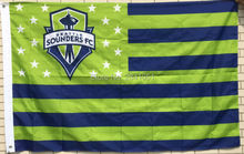 Seattle Sounders Stars and Stripes MLS Nation American Outdoor Indoor Hockey Baseball College Flag 3X5 Custom USA Any Team Flag
