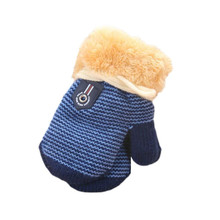 Cute baby mittens Thicken Hot Infant socks Baby Girls Boys Of Winter Warm Gloves for children aged 1 to 4 years